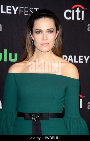 Los Angeles, CA, USA. 18th Mar, 2017. Mandy Moore at arrivals for THIS IS US at 34th Annual Paleyfest Los Angeles, - Stock Photo
