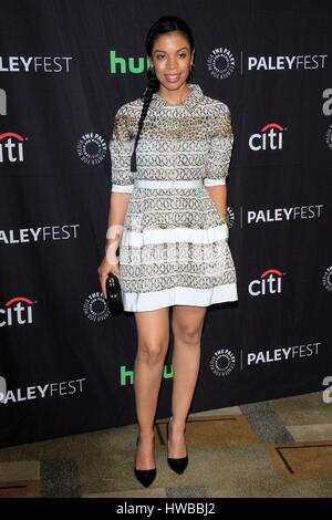 Los Angeles, CA, USA. 18th Mar, 2017. Susan Kelechi Watson at arrivals for THIS IS US at 34th Annual Paleyfest Los - Stock Photo
