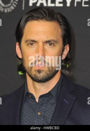 Los Angeles, CA, USA. 18th Mar, 2017. Milo Ventimiglia at arrivals for THIS IS US at 34th Annual Paleyfest Los Angeles, - Stock Photo