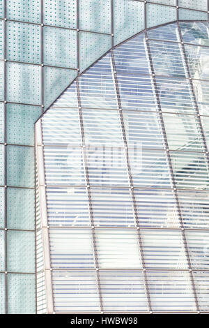 Morden architectural Glass buildings in London - Stock Photo