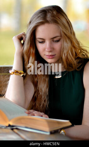 Very beautiful,snorting,stunning,attractive,adorable,perfect,awesome,gorgeous,excellent,pretty,nice,good,lovely,blonde,long - Stock Photo