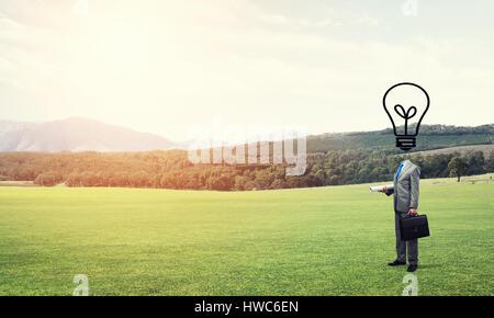 Man of creative ideas - Stockfoto