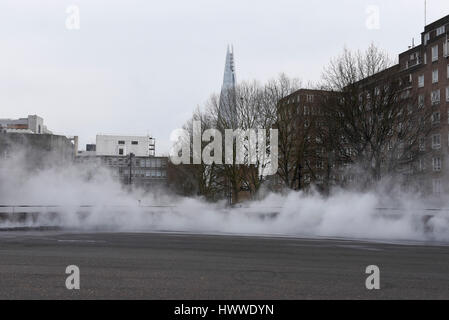 London, UK. 23rd Mar, 2017. 'I try to let nature speak' by Fujiko Nakaya, an immersive, interactive fog sculpture, - Stock Photo