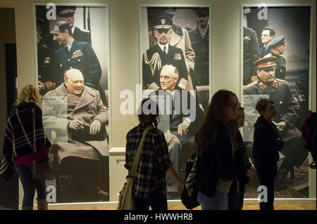 Gdansk, Poland. 23rd March, 2017. Gdansk, Poland. 23rd Mar, 2017. Picture of Winston Churchill, Franklin Delano - Stock Photo