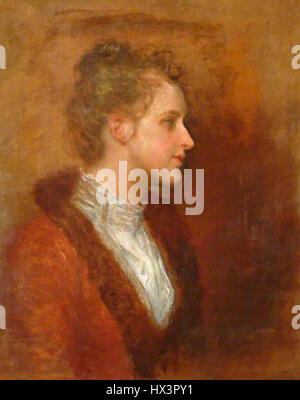 Lila Prinsep by George Frederic Watts - Stock Photo