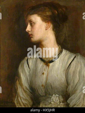 Miss May Prinsep by George Frederic Watts - Stock Photo
