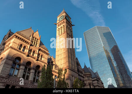 Toronto Old City Hall at sunset, Canada. - Stock Photo