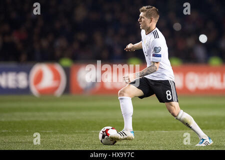 Baku, Azerbaijan. 26th Mar, 2017. Germany's Toni Kroos in action during the FIFA World Cup qualifier group phase - Stock Photo