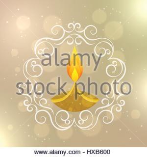 decorative diwali diya - Stock Photo
