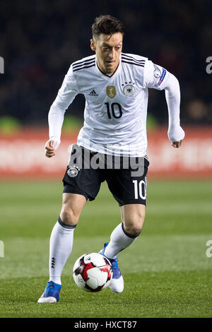 Baku, Azerbaijan. 26th Mar, 2017. Germany's Mesut Oezil in action during the FIFA World Cup qualifier group phase - Stock Photo
