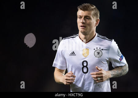 Baku, Azerbaijan. 26th Mar, 2017. Germany's Toni Kroos during the FIFA World Cup qualifier group phase soccer match - Stock Photo