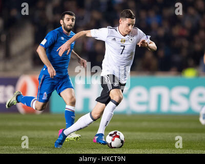Baku, Azerbaijan. 26th Mar, 2017. Germany's Julian Draxler in action during the FIFA World Cup qualifier group phase - Stock Photo