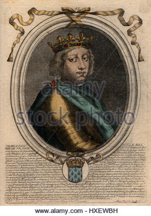 portrait of king charles iv of france 1294 1328 he fair was count stock photo royalty free. Black Bedroom Furniture Sets. Home Design Ideas