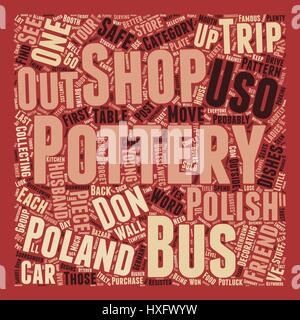 Polish Pottery text background wordcloud concept - Stock Photo