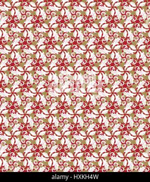 Floral Fine Seamless Vector Pattern - Stock Photo