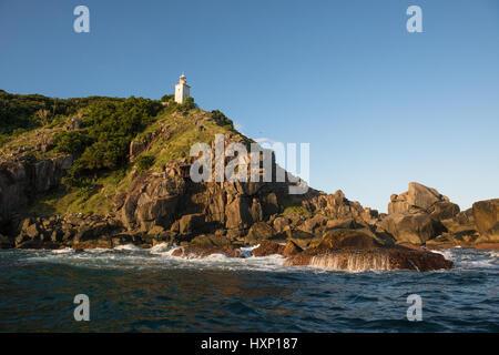 Ponta do Boi lighthouse in Ilhabela - Stock Photo
