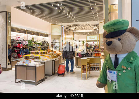 Harrod's Store in departure lounge at Terminal 5, London Heathrow Airport. London Borough of Hillingdon, Greater - Stock Photo