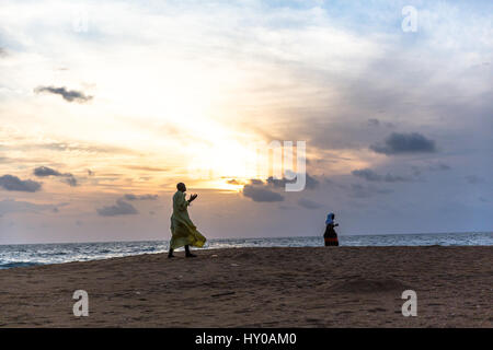 Here at Mambo Point prayers are given up on the beach during the Ebola crisis. - Stock Photo
