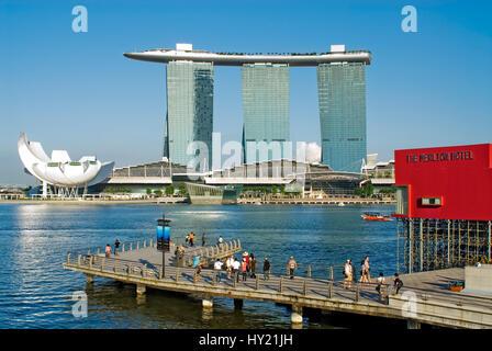 Singapore Marina Bay at Day  Singapur Marina Bay am Tag - Stock Photo