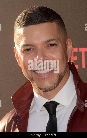 Los Angeles, Ca, USA. 30th Mar, 2017. Wilson Cruz at the premiere of Netflix's '13 Reasons Why' at Paramount Pictures - Stock Photo