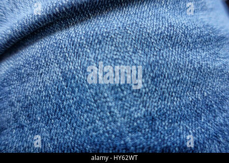 frayed jeans texture for background blue jeans close up - Stock Photo
