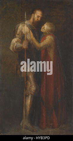George Frederic Watts   Knight and Maiden - Stock Photo