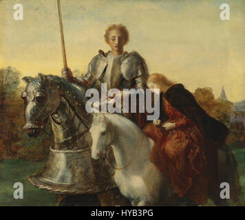 George Frederic Watts   Una and the Red Cross (study) - Stock Photo