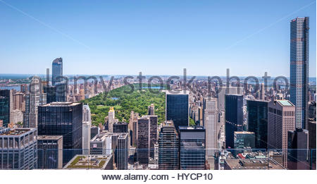 New York, USA - 23th of May 2015. The view from top of the Rockefeller observation deck. Here you can see U.S. National - Stock Photo