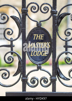 Gate to the Master's Lodge at Jesus College Cambridge UK - Stock Photo