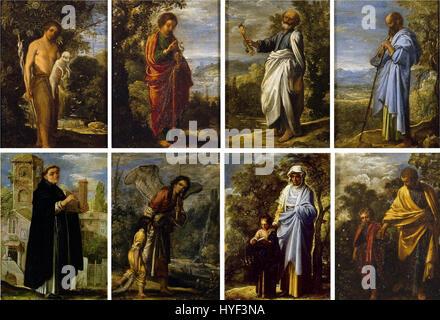 Adam Elsheimer   a set of small religious scenes - Stock Photo