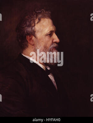 Robert Browning by George Frederic Watts - Stock Photo