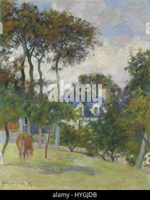 PAUL GAUGUIN 1848   1903 LA MAISON BLANCHE - Stock Photo