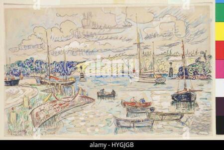Paul Signac 11. 11. 1863 15. 8. 1935   Lezardrieux - Stock Photo