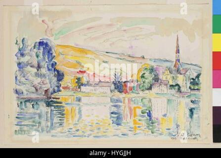 Paul Signac 11. 11. 1863 15. 8. 1935   Petit Andely - Stock Photo