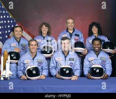 Astronauts of the STS-7 Space Shuttle Challenger mission ...