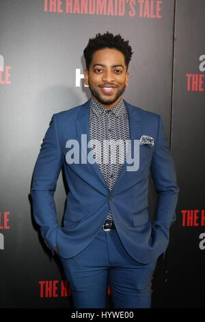 Los Angeles, CA, USA. 25th Apr, 2017. Shaun Brown at arrivals for THE HANDMAID'S TALE Screening Premiere on HULU, - Stock Photo
