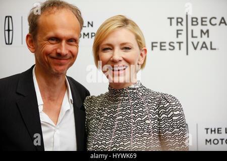 New York City, USA. 26th Apr, 2017. Cate Blanchett and Julian Rosefeldt attend the Tribeca Film Festival screening - Stock Photo