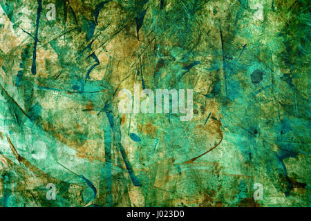 Watercolor background for textures. Abstract watercolor background. Strokes of paint on the paper. Green color - Stock Photo