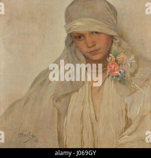 Alfons Mucha (1860-1939) - Nevěsta - Stock Photo