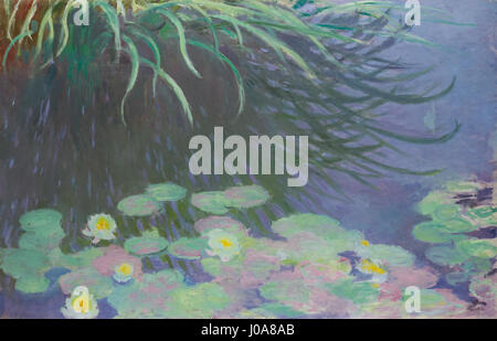 CLAUDE MONET 1840 - 1926 NYMPHÉAS AVEC REFLETS DE HAUTES HERBES - Stock Photo