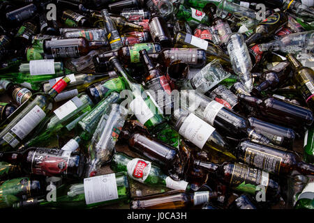 wine bottles in a glass recycling bin stock photo royalty free image 16566835 alamy. Black Bedroom Furniture Sets. Home Design Ideas