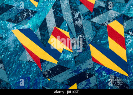 Modern abstract artwork by Ed Buziak. - Stock Photo