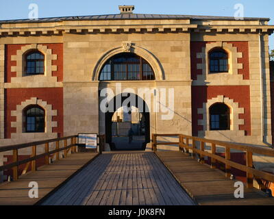 Old stoned fortification - part of old city defensive walls  in Zamosc, Poland - Stock Photo