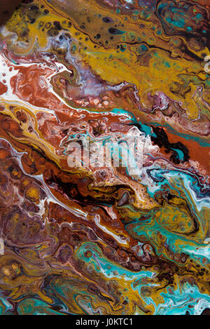 Abstract creative painted background with acrylic paints on canvas as modern and contemporary art - Stock Photo