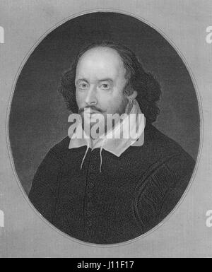 William Shakespeare (1564-1616), English Poet, Playwright and Actor, Portrait - Stock Photo