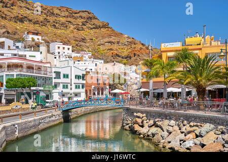 Spain europe gran canaria puerto de mogan canaries europe canary stock photo royalty free image - Taxi puerto rico gran canaria ...
