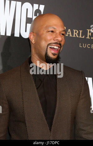 Los Angeles, CA, USA. 30th Jan, 2017. LOS ANGELES - JAN 30: Common at the ''John Wick: Chapter 2'' Premiere at ArcLight - Stock Photo