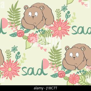 vector cartoon bear - Stock Photo