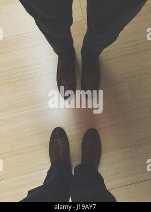 Matching Shoes. my friend and I wore matching shoes - Stock Photo
