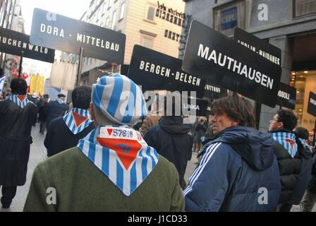Milan (Italy), 'Memory Day', demonstration in memory of deportees in the Nazi concentration camps - Stock Photo
